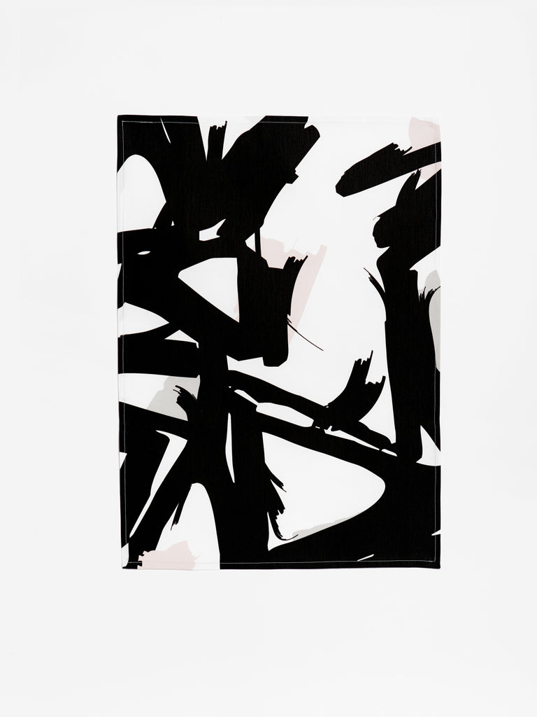 Abstract Series - Black/Grey/Pink Tea Towel