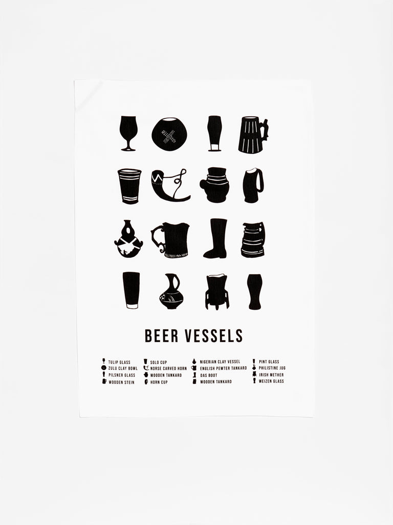 Beer Vessel Chart Towel
