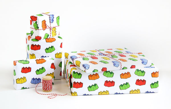 Christmas Cracker Crown Wrapping Paper Sheets