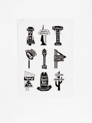 Richmond Neon Tea Towel