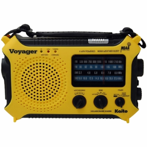 ''Voyager'' Dynamo Solar Weather AM/FM/SW Radio