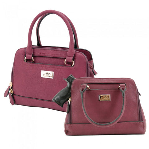 Belladonna Concealed Carry Purse: Wine