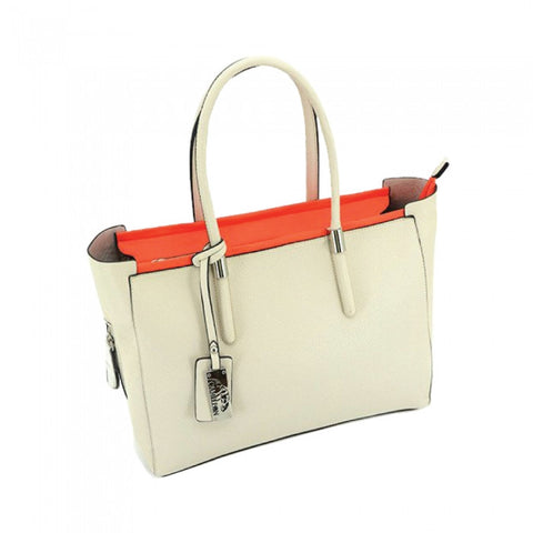 Calypso Concealed Carry Purse: White/Red