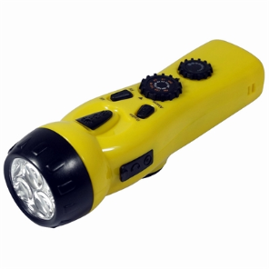 Dynamo Flashlight AM/FM Radio & USB Cell Charger