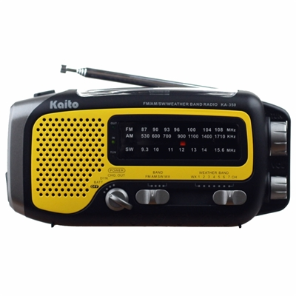 ''Trek'' Dynamo Solar Weather AM/FM/SW Radio