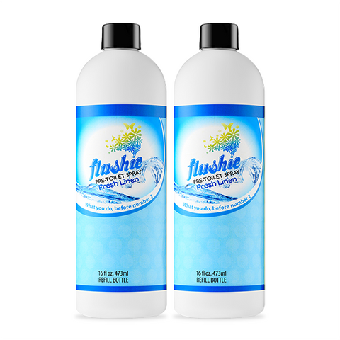 2 Pack Fresh Linen 16oz Pre-Toilet Spray