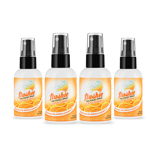 4 Pack Citrus Fusion 2oz Pre-Toilet Spray