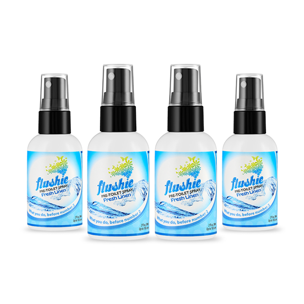 4 Pack Fresh Linen 2oz Pre-Toilet Spray