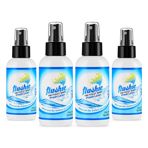 4 Pack Fresh Linen 4oz Pre-Toilet Spray
