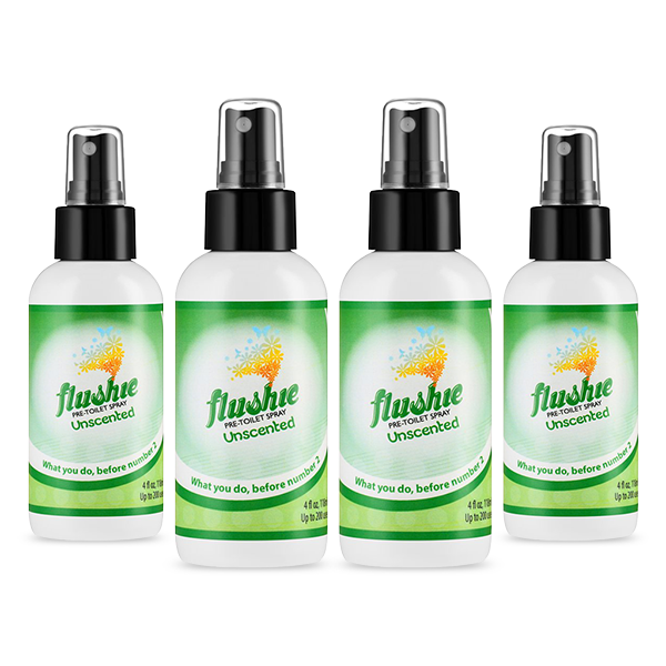 4 Pack Unscented 4oz Pre-Toilet Spray