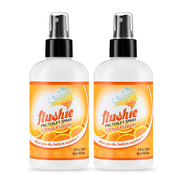 2 Pack Citrus Fusion 8oz Pre-Toilet Spray