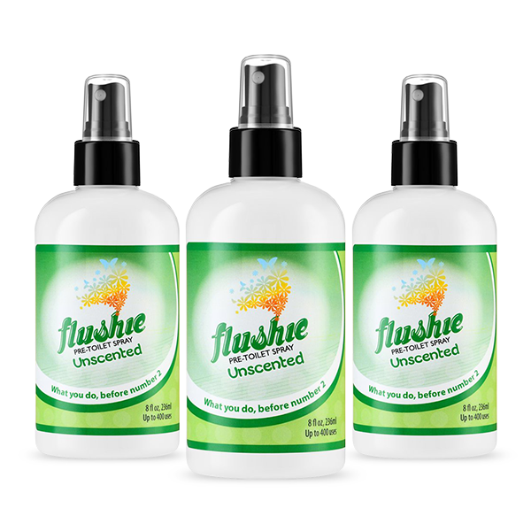 3 Pack Unscented 8oz Pre-Toilet Spray