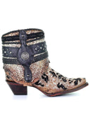 Women's Decorated Flipped Shaft Ankle Boots