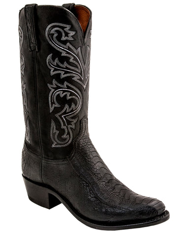 Mens Nick Smooth Ostrich Leg Boots