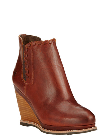 Womens Belle Wedge Short Boots