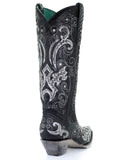 Women's Embellished Python Western Boots
