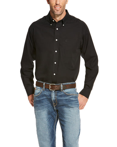 51339f2a Mens WF Solid Long Sleeve Western Shirt - Black – Skip's Western Outfitters