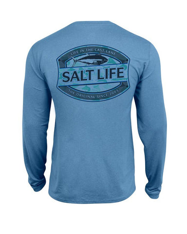 Men's Life In The Cast Lane Long Sleeve Shirt - Blue