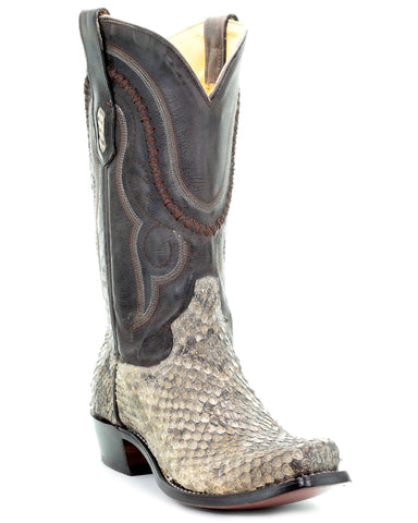 Mens Natural Rattle Snake Boots