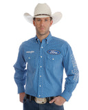 Men's Ford Logo Printed Long Sleeve Western Shirt