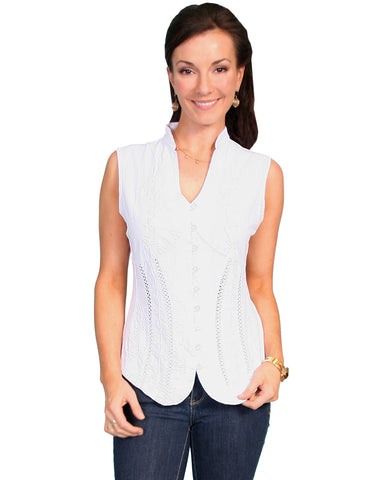 Women's Sleeveless Blouse - White