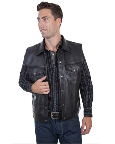 Men's Concealed Carry Lambskin Leather Jacket