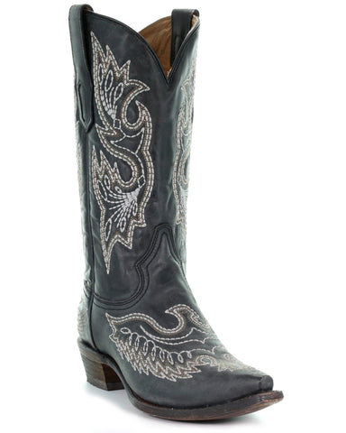 Men's Eagle Embroidered Boots