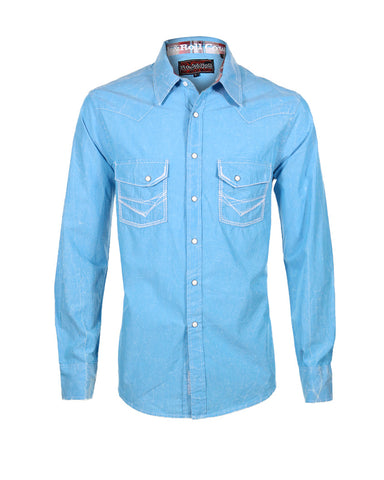 Men's Embroidered Snap Up Western Shirt