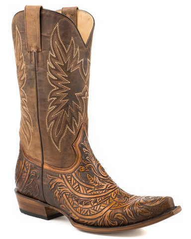 Men's Hand Tooled Western Boots