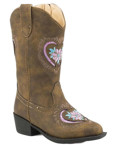 Kid's Daisy Heart Boots