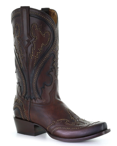 Men's Floral Inlay Western Boots