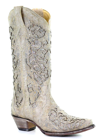 Womens Glitter and Crystals Boots