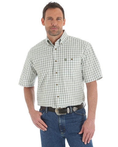 Mens George Strait Plaid Short Sleeve Western Shirt