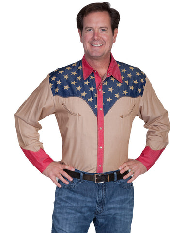 Men's Patriotic Stitched Shirt
