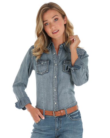 Women's Embroidered Yokes Western Shirt