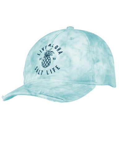 Salt Life Live Aloha Ball Cap - Sky Blue