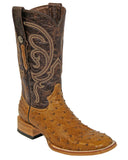 Men's Mad Dog Ostrich Boots - Antique