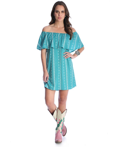 Womens Ruffle Off The Shoulder Dress