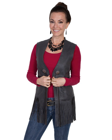 Womens Long Fringe Vest