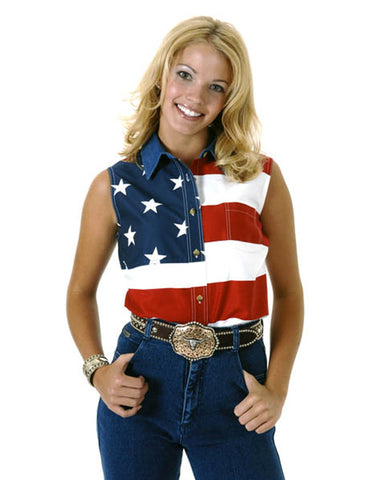 Womens Stars & Stripes Sleeveless Shirt