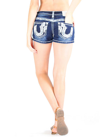 Womens Susanna Embroidered Shorts