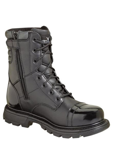 "Mens GEN-Flex2 8"" Side-Zip Lace-Up Boots"