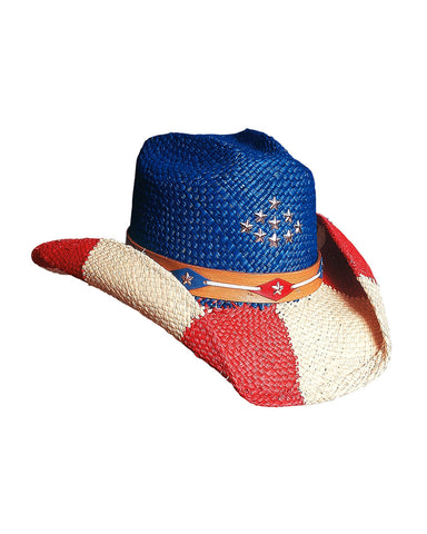 Bullhide Patriot Panama Straw Hat