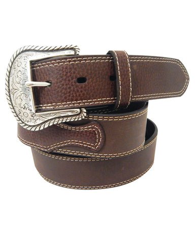 Mens Pebble Grain Leather Belt