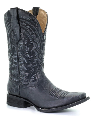 Men's Tonal Embroidered Western Boots
