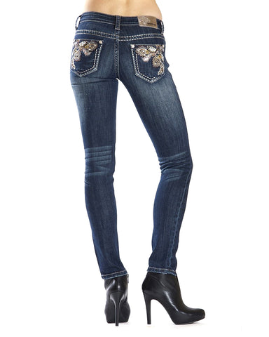 Women's Floral Skinny Jeans