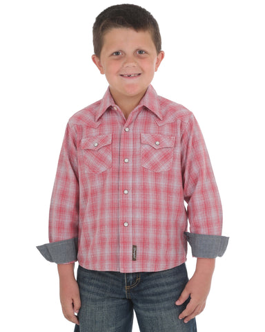 Boy's Retro Long Sleeve Western Shirt