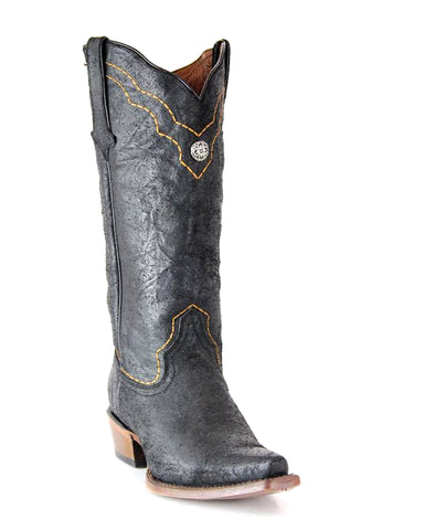 Womens Oveido Crackle Leather Boots