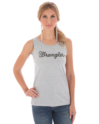 Women's Wrangler Logo Script Tank Top - Heather