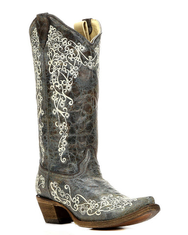 Womens Embroidered Boots